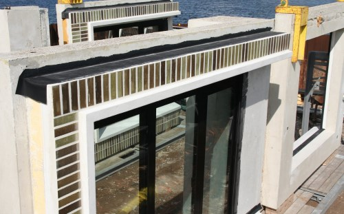 EPDM water barrier for facades